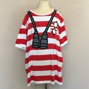 Other - Where's Waldo - Red & White Striped Shirt (Large)